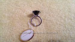 Кольцо из медицинской стали с цирконием