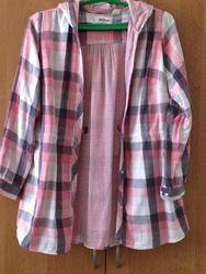 Легкая курточка хлопок с капюшоном летняя