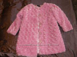 Красивенная розовая шубка для девочки
