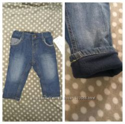 Тепленькие стильные термо-джинсы модному сыночку от немецкой С&А размер 74