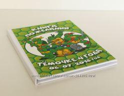 Книги пожеланий и мини-фотоальбомы для детского дня рождения на любую тему