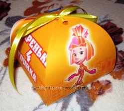 Все для оформления детского дня рождения - Фиксики-бонбоньерки-коробчки
