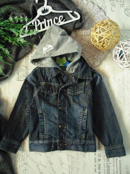 3-4года. Mоднячая джинсовая ветровка пиджак Rebel. мега выбор обуви и одежд