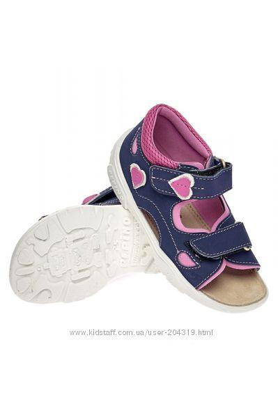 Босоножки ricosta 22р, ст 14см. мега выбор обуви и одежды
