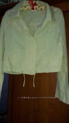 Курточка- ветровка лен&92котон р. м- л