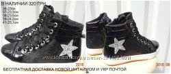 Ботиночки черные звезда