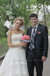 свадебное платье, снизила цену