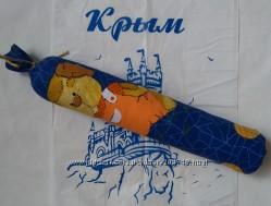 Детский ортопедический валик можжевеловый с лавандой для сна спины осанки