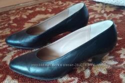 Туфли женские, р. 35. , черные, натральная кожа