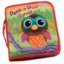 Книга мягкая Животные в лесу, Погремушки Fisher-Price, в наличии