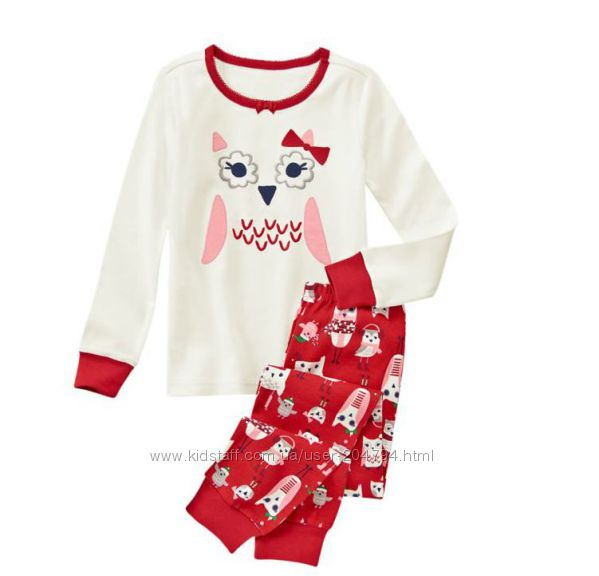 Пижамы для девочек Gymboree, в наличии
