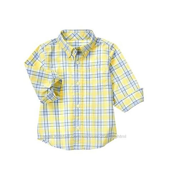 Рубашки для мальчиков от Gymboree, в наличии