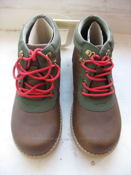 Продам коричневые деми ботинки