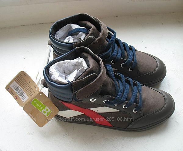 Продам ботинки деми crazy8 коричневые 117