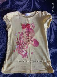 очень красивая футболка с зеброй charles vogele на рост 122.