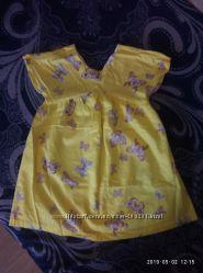 очень красивое, яркое платье в бабочках zara на 7 лет на рост 122