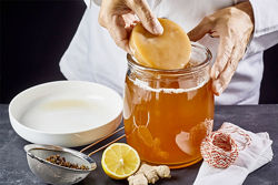 Комбуча, чайный гриб, домашний квас, медуза