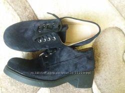 Замшевые туфли 36-37 р.