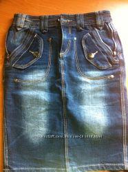 Крутая джинсовая юбка Длина по колено. В идеале.