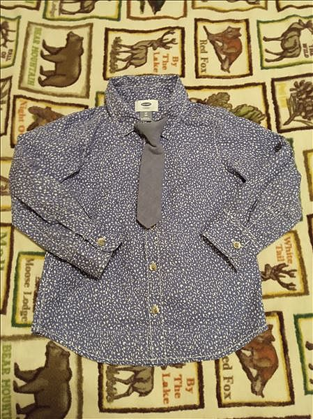 Нарядная рубашка с галстуком Old Navy 4т