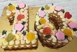 Торт-цифра или торт-сердце