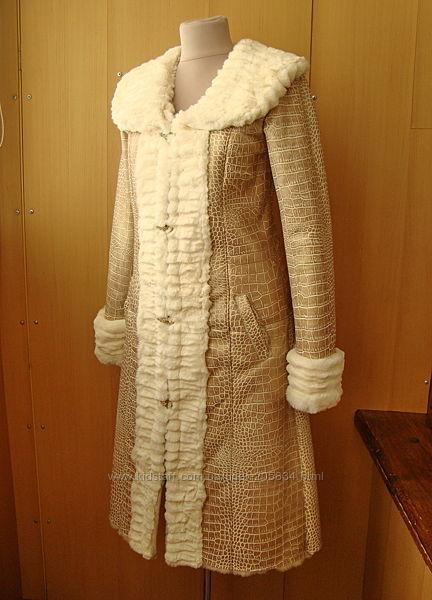 Дубленка-шубка натуральная, дизайнерский индивидуальный пошив.