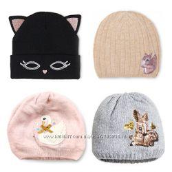 Утепленные шапочки от H&M для девочек