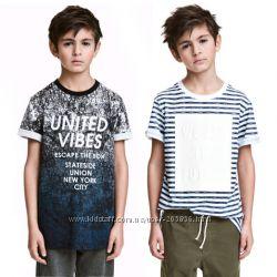 Модные футболки для подростков от h&m