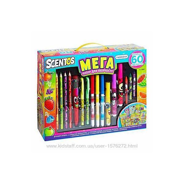 Scentos, набор для рисования, мега креатив, маркеры, scentos
