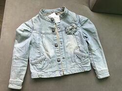 Джинсова курточка на 4р або 102см Нова Vertbaudet