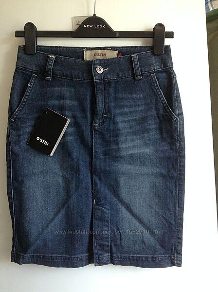 джинсовая юбка zara ostin xs s