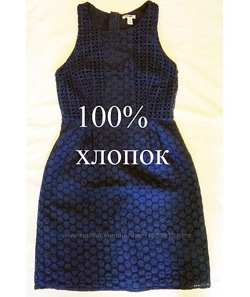 Хлопок/шитье синий легчайший сарафан до колена от Old  Navy, США.