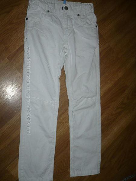 Штаны белые тонкие на мальчика 8лет 128р. Тонкий х-б