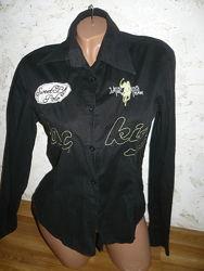 Рубашка черная женская х-б 44р. S