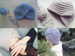 Тюрбан вязанная шапка