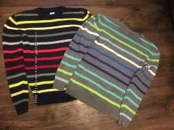 2 свитера в полосочку для школы GAP