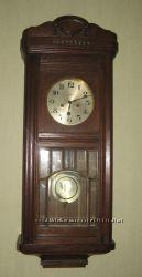 Старинные антикварные настенные швейцарско-германские часы Gustav Becker
