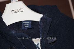 Тепле пальто фірми Next 12-18 м, 86 см