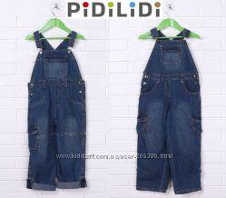 Комбинезоны джинсовые 98-140р. с системой Roll up от Pidilidi