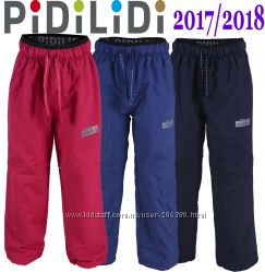 98-158р  Демисезонные штаны не промокаемые на флисе ТМ Pidilidi