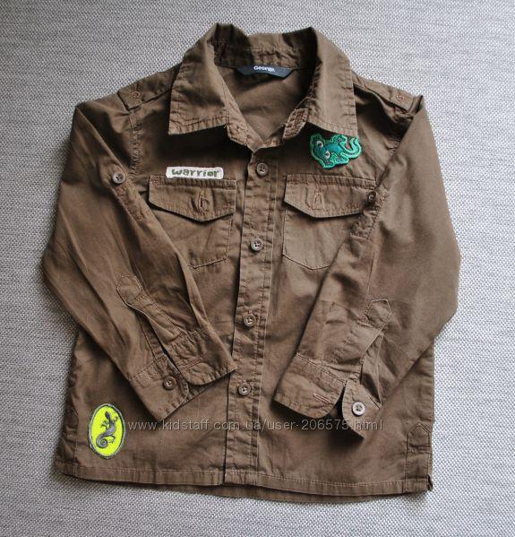 Коттоновая рубашка GEORGE на 86-92 рост