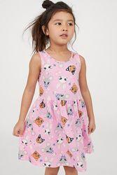 Лето 2020 милые сарафаны H&M яркие принты девочкам 2-4,4-6, 6-8 и 8-10 лет