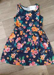 Суперское яркое платье сарафан H&M тропики 8-10, 10-12 и 12-14 лет