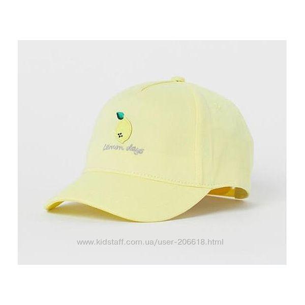 Супер кепка бейсболка H&M лимончик девочкам 4-8 и 8-12 лет