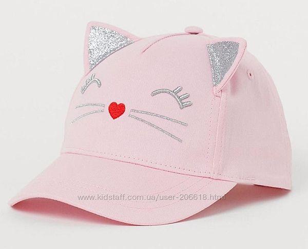 Суперская кепка бейсболка H&M с ушками девочкам 4-8 и 8-12 лет