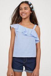 Нежная красивая блуза топ H&M брителя рюш девочкам