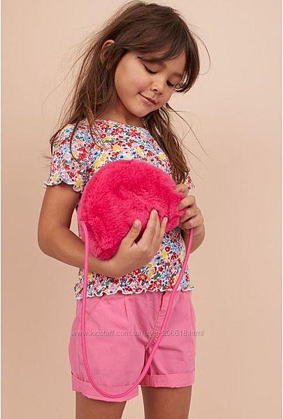 Яркая красочная футболка H&M цветочный принт девочкам