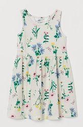 Красивые сарафаны платья H&M девочкам ростительным принт 4-6, 6-8 и 8-10 ле