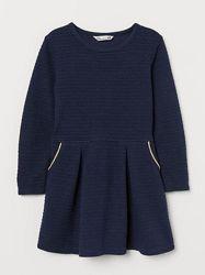 Стильные трикотажные платья H&M девочкам 4-6 лет