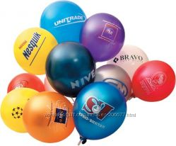 Печать на воздушных шарах, брендирование надувных шаров, лого на шарики